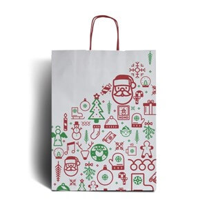 Iconic Christmas Premium Carrier Bags