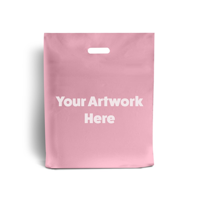 Light Pink Printed Plastic Carrier Bags