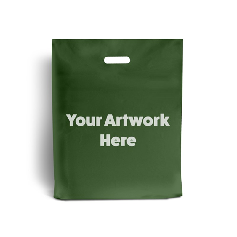 Harrods Green Printed Plastic Carrier Bags