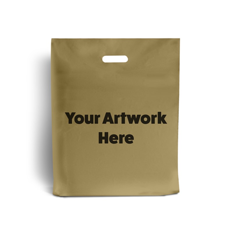 Gold Printed Plastic Carrier Bags