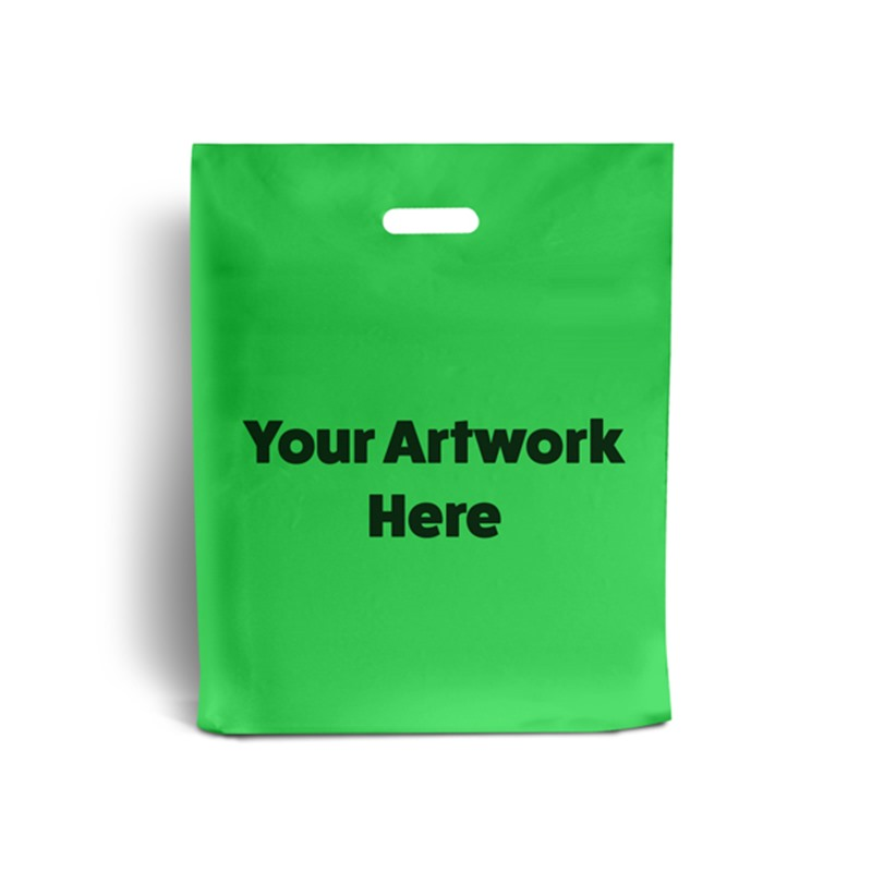 Apple Green Printed Plastic Carrier Bags
