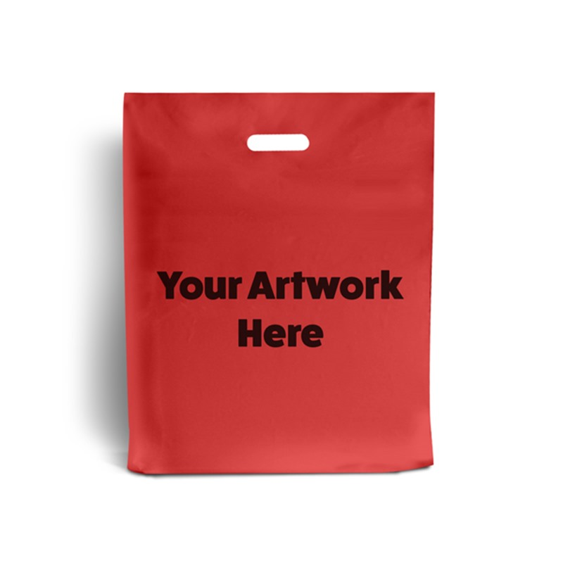 Red Printed Plastic Carrier Bags