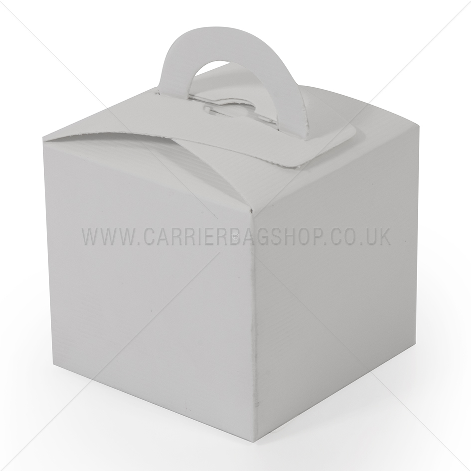 White Mini Gift Boxes Gift Packaging Carrier Bag Shop