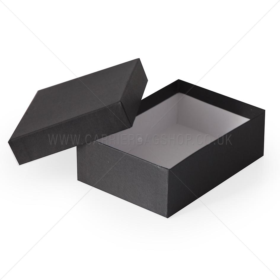 Matte Black Rigid Gift Boxes Bespoke Packaging Carrier Bag Shop