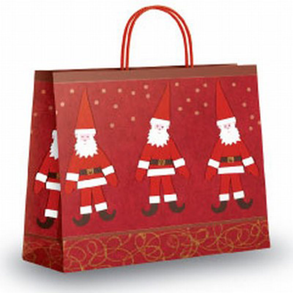 Dancing Santa Design Paper Carrier Bags From Carrier Bag