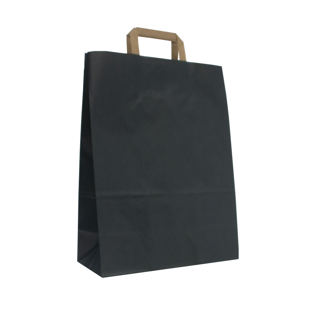 Dark Blue Carrier Bags With Flat Handles From Carrier Bag Shop