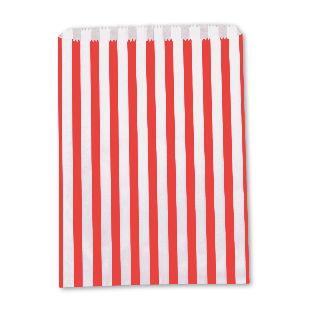 Clearance Red Candy Stripe Paper Bags From Carrier Bag