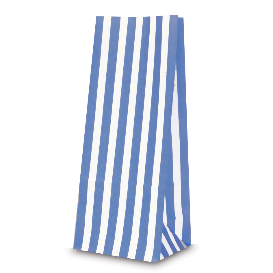 Blue Pick N Mix Bags With Candy Stripe Carrier Bag Shop
