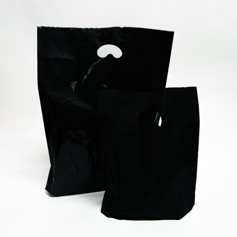 Black Premium Degradable Plastic Bags Branded Bag