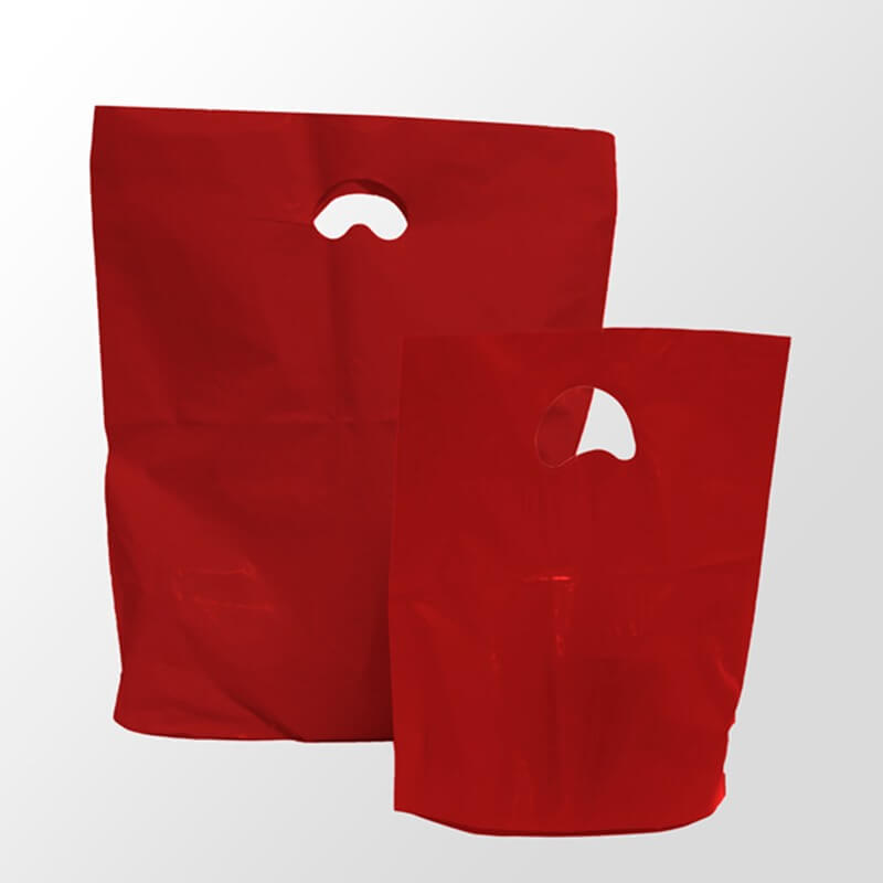 Red Premium Degradable Plastic Bags Branded Bags