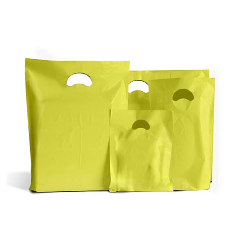 Strong Biodegradable Yellow Plastic Carrier Bags Coloured Plastic Shopping Bags