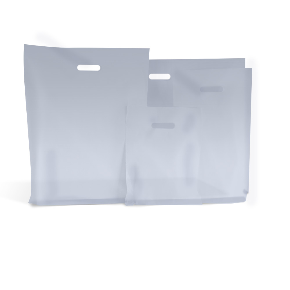 ae1802ccfb Frosted Plastic Carrier Bags |Bespoke Branded Bag | Carrier Bag Shop