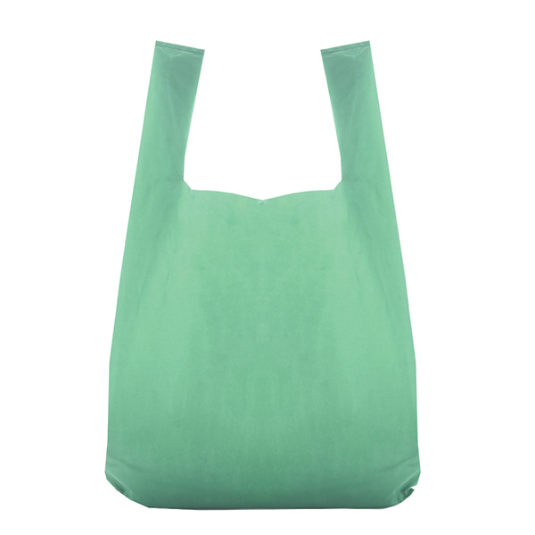 dcd622de79 Recycled Green Vest Style Plastic Carrier Bags