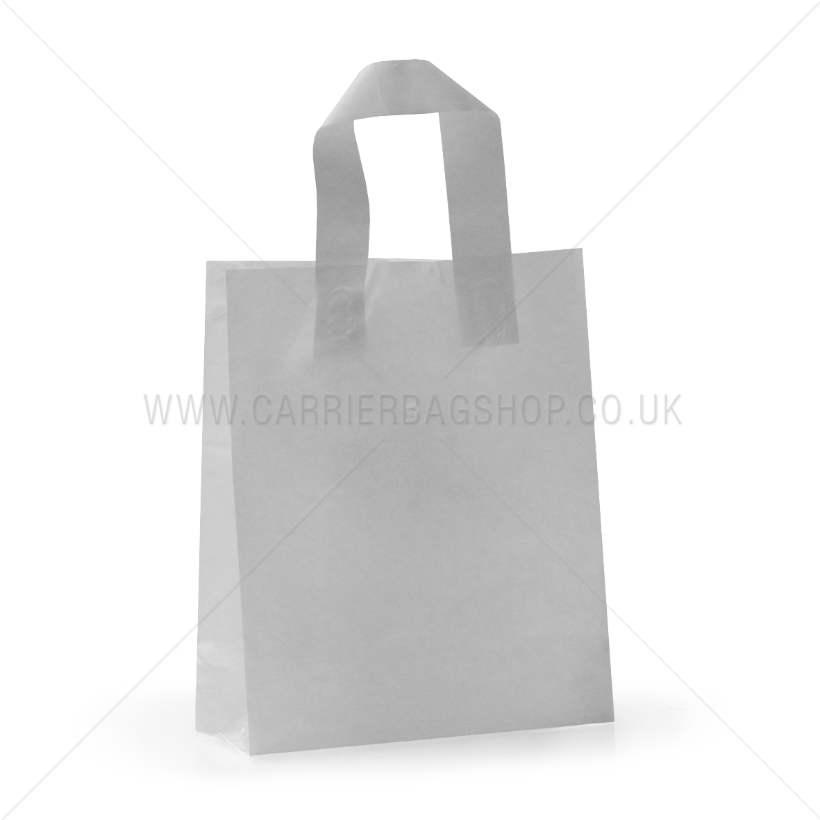 what shop uses a white carrier bags with red hamdles
