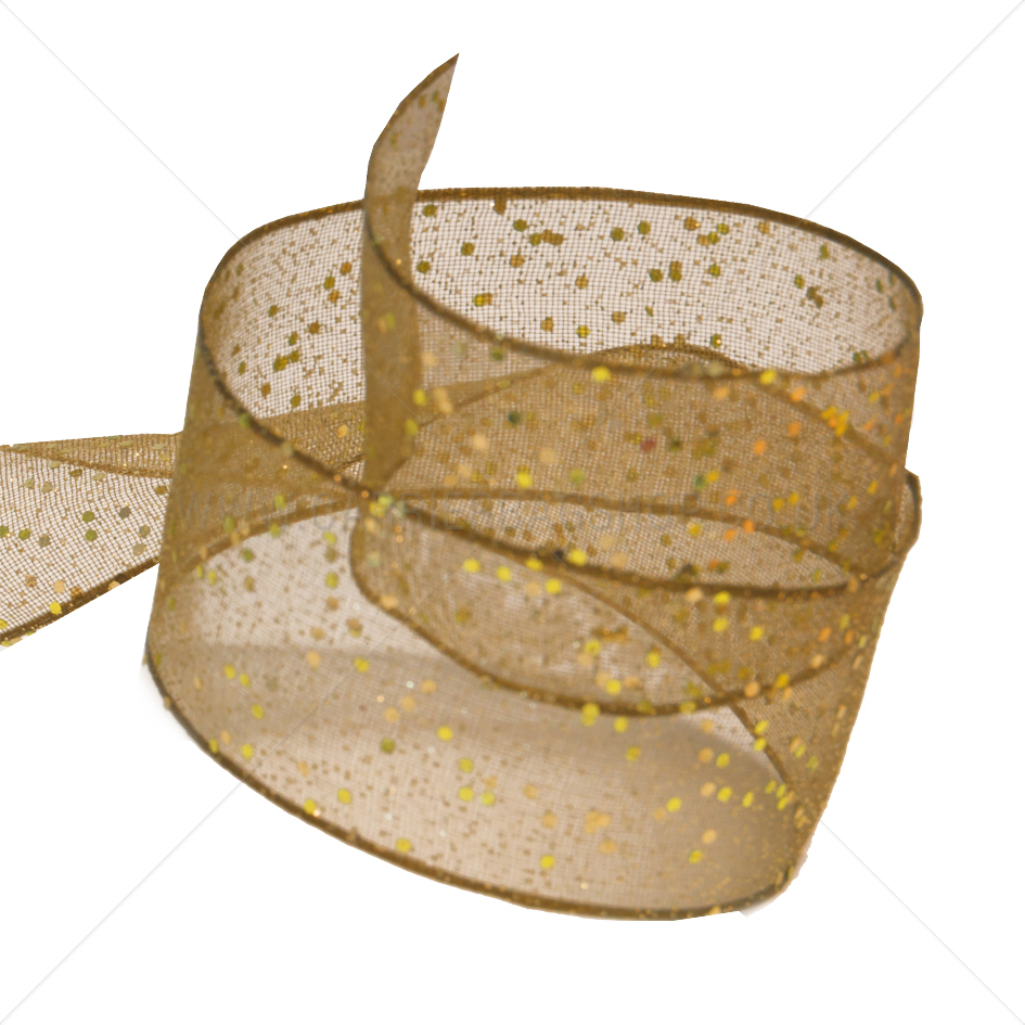 Honey Gold Random Glitter Ribbons From Carrier Bag Shop