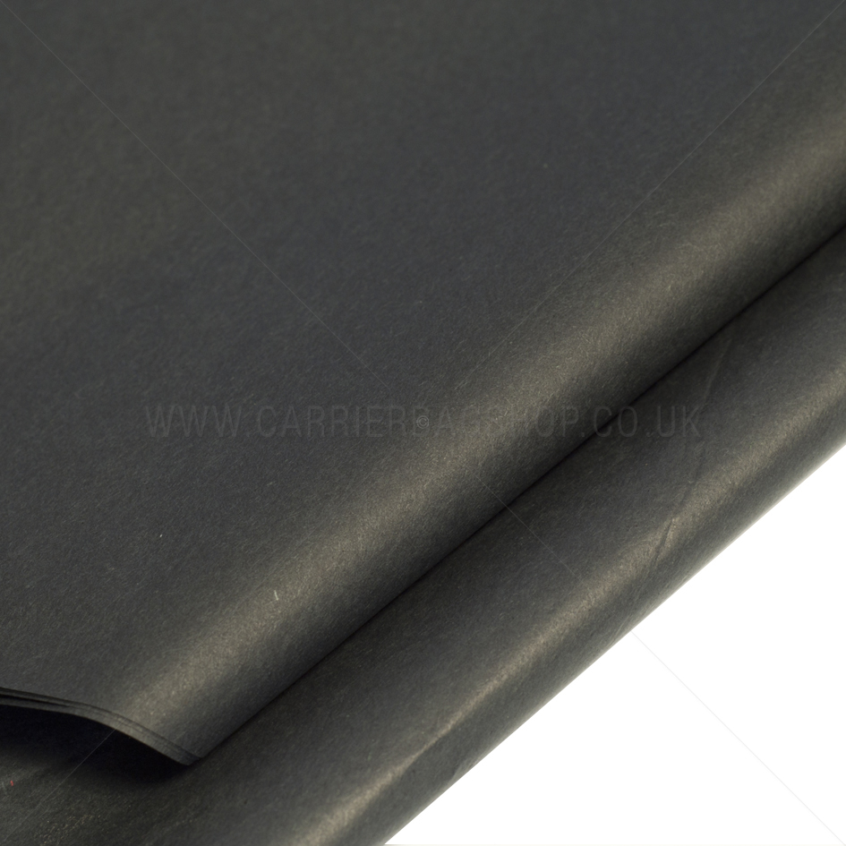 Black Coloured Standard M G Tissue Paper Carrier Bag Shop