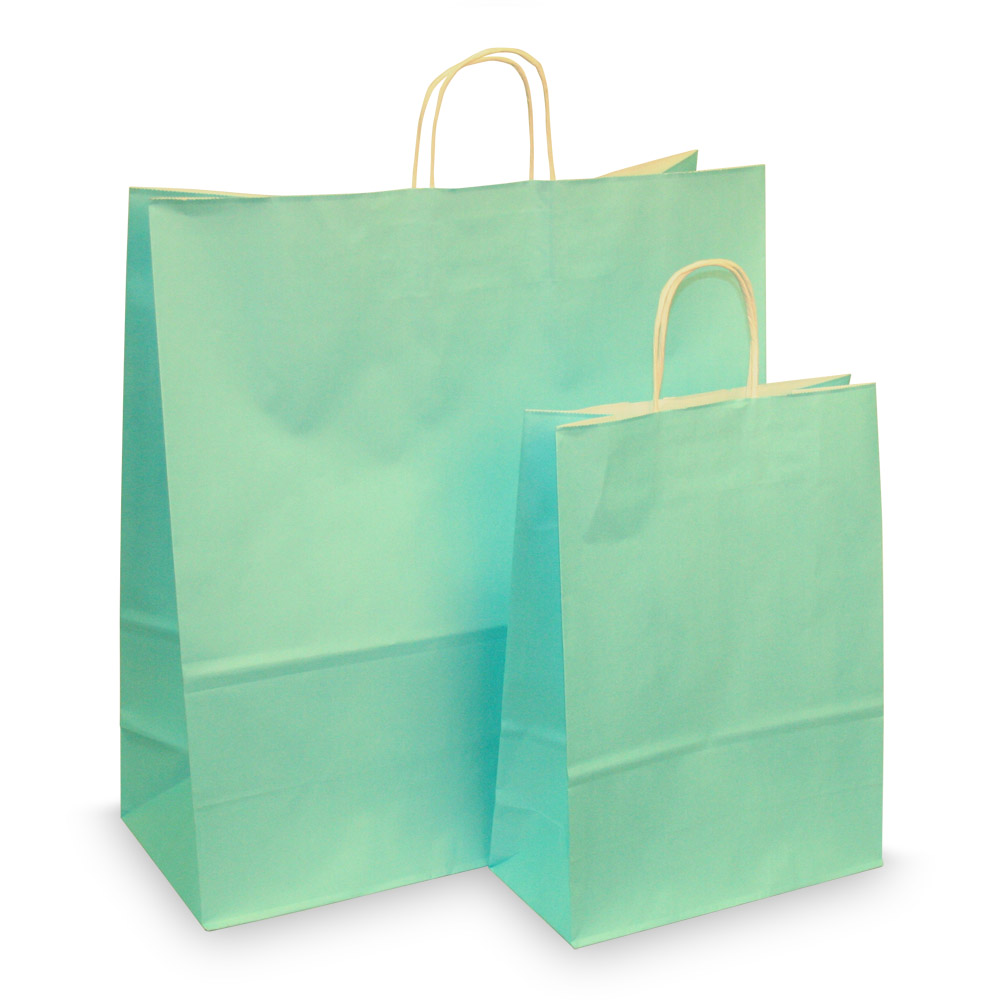 Baby Blue Paper Carrier Bags Coloured Paper Bags