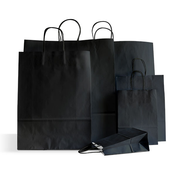 Black Paper Carrier Bags Coloured Paper Bags Carrier