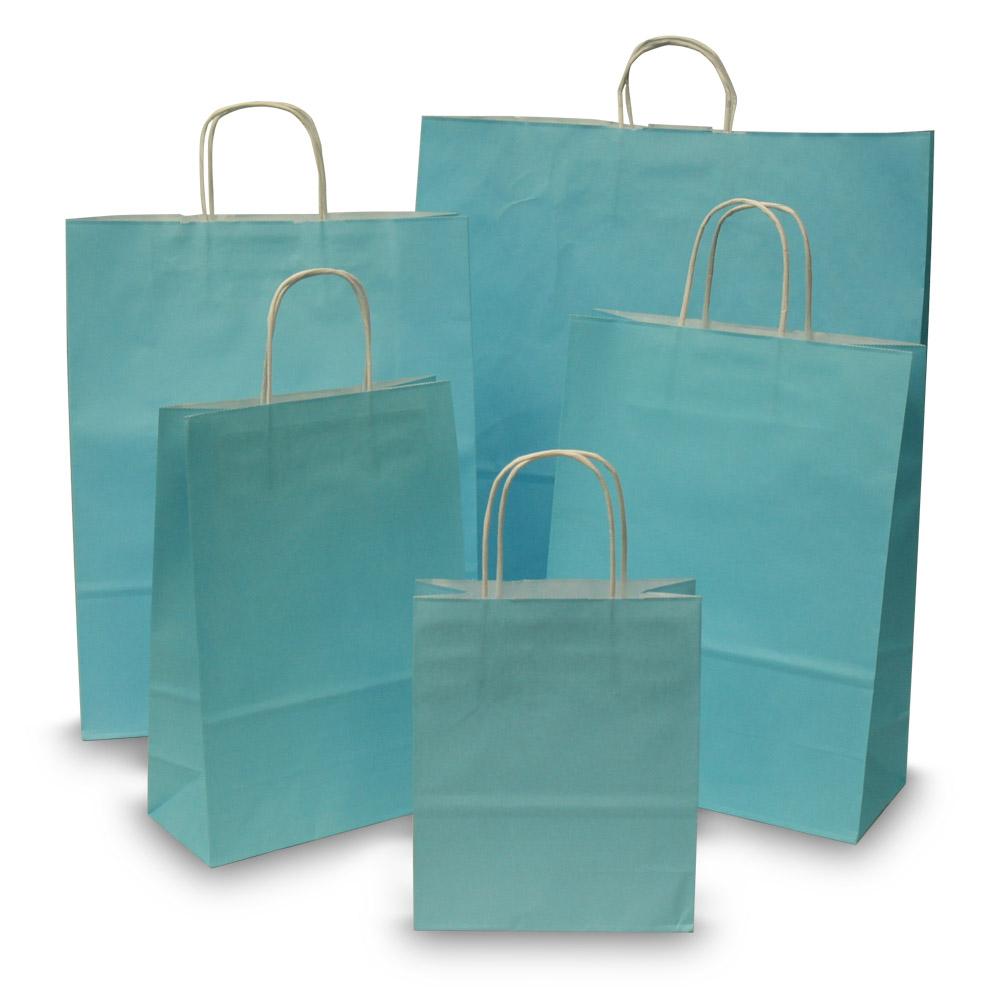 Light Blue Paper Carrier Bags Paper Bags Carrier Bag Shop