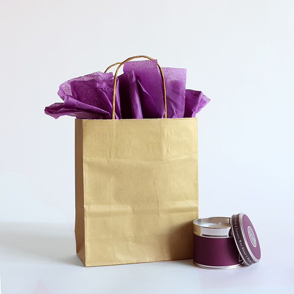 Gold Paper Carrier Bags Coloured Paper Bags