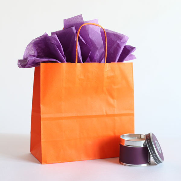 Orange Paper Carrier Bags Paper Bags Carrier Bag Shop