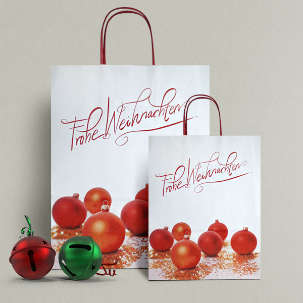 frohe weihnachten christmas paper carrier bags christmas. Black Bedroom Furniture Sets. Home Design Ideas