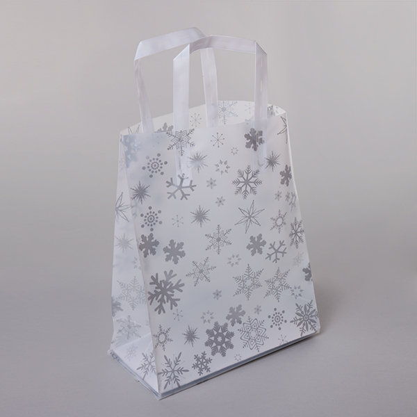 Frosted Snowflake Plastic Bag From Carrier Bag Shop
