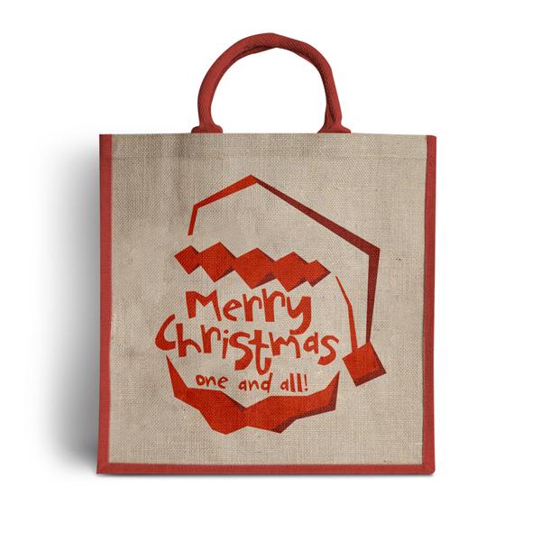 Santa Claus Is Coming Jute Bag For Life Carrier Bag Shop