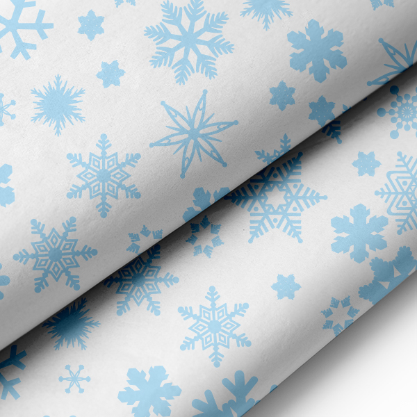 Paper Tissue Snowflake Christmas Decorations By Pearl And: Blue Snowflake Tissue Paper