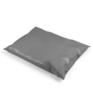 "Grey Recycled Mailing Bags - 12"" x 16"""