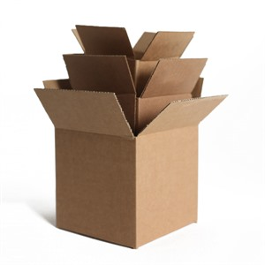 "Single Wall Cardboard Boxes - 4"" x 4"" x 4"""